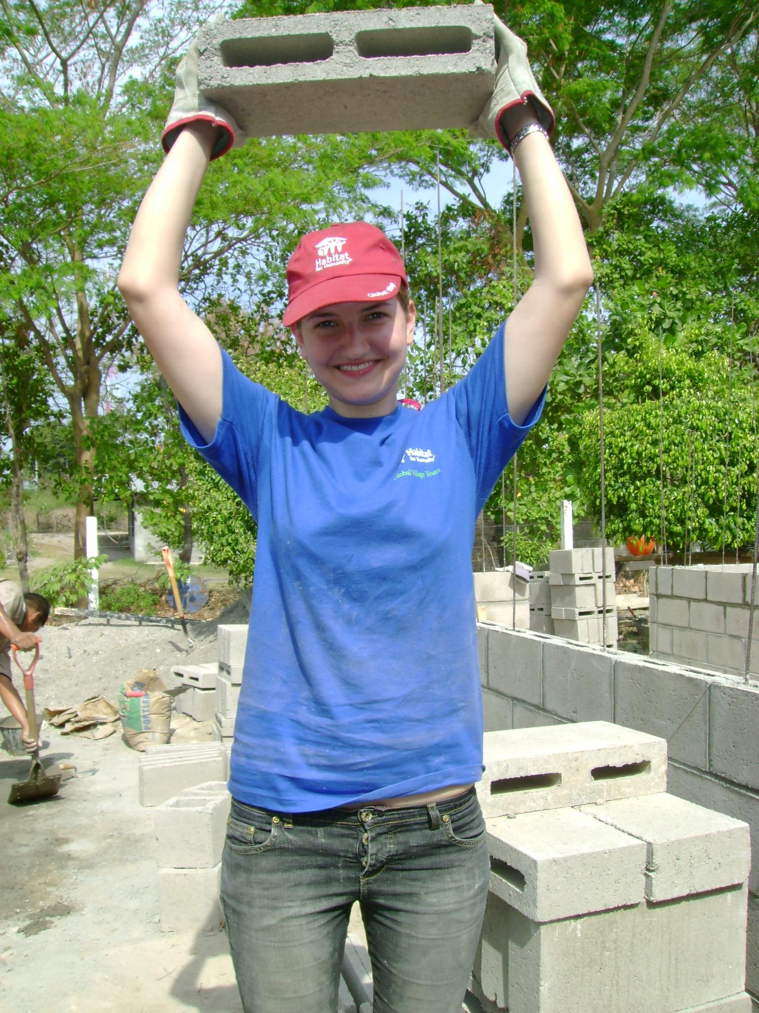 Kobiljar raising cement block
