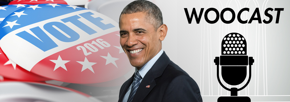 Picture of President Obama and WooCast Logo