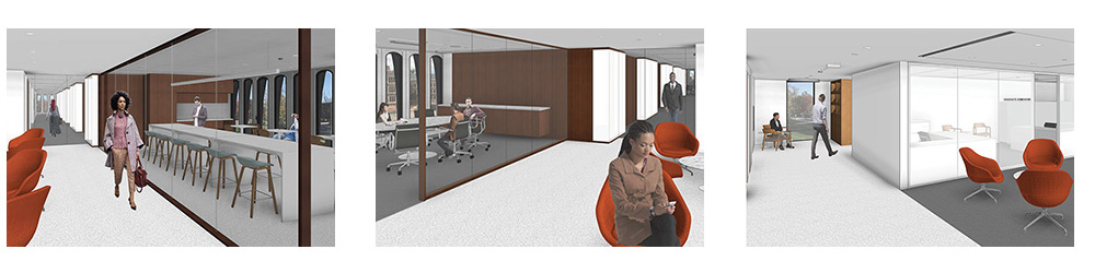 Renderings of Robertson Hall renovation (Images courtesy of KPMB)