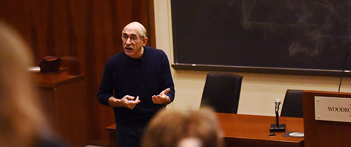 Professor Oppenheimer teaching