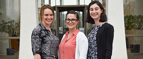 Elizabeth Garlow, Emily Ruskin, and  Emma Wingreen