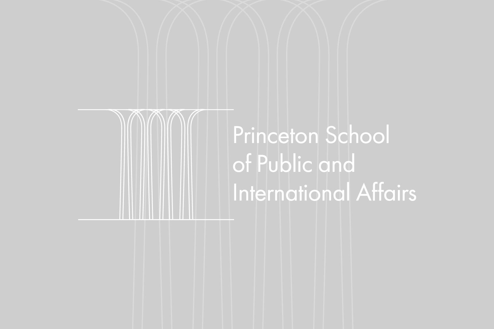 Princeton School of Public and International Affairs logo on a grey background.